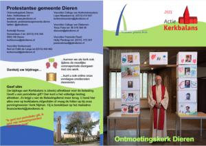 Folder Kerkbalans 2021 voor-en-achterkant